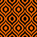 Circle And Oval Ikat In Black T03-p0100 by Custom Home Fashions