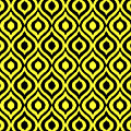 Circle And Oval Ikat In Black T05-p0100 by Custom Home Fashions