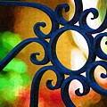 Circle Design On Iron Gate by Donna Bentley