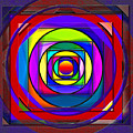 Circles And Squares Abstract by Steve Ohlsen