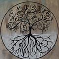Circular Tree Of Life  by Deborah Christensen