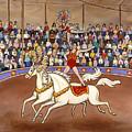 Circus Bareback Riders by Linda Mears