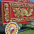 Circus Car In Red And Gold by Anita Burgermeister