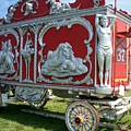Circus Car In Red And Silver by Anita Burgermeister