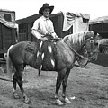 Circus Cowboy On Horse by Unknown