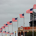 Citifield And American Flags by Nishanth Gopinathan