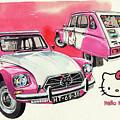 Citroen Dyane Hello Kitty by Yoshiharu Miyakawa
