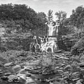 Cittenango Falls Tilt Shift Panorama Bw by Michael Ver Sprill