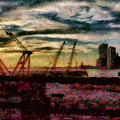 City - Ny - Overlooking The Hudson by Mike Savad