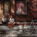 City - Ny - Two Guys And A Dog by Mike Savad