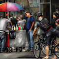 City - Ny Delancy St - Getting A Snowcone  by Mike Savad