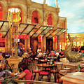 City - Vegas - Cesar's - Lunch In Italy by Mike Savad