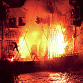 City - Vegas - Treasure Island - Explosion Abandon Ship by Mike Savad