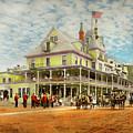 City - Adirondack Ny - Riverside Inn 1909 by Mike Savad