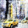 City-art Times Square Streetscene by Melanie Viola