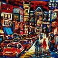 City At Night Downtown Montreal by Carole Spandau