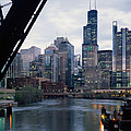 City At The Waterfront, Chicago River by Panoramic Images