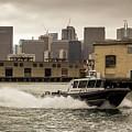 City Bay Police Boat - Color  by Matthew Kositzin