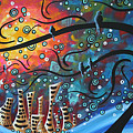 City By The Sea By Madart by Megan Duncanson