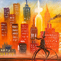 City Cycle In The Warm Evening by Jason Etienne