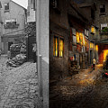 City - Germany - Alley - Coming Home Late 1904 - Side By Side by Mike Savad