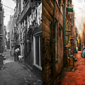 City - Germany - Alley - The Other Half 1904 - Side By Side by Mike Savad