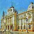 City Hall Of Cartagena Spain by Digital Photographic Arts