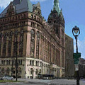 City Hall With Street Lamp by Anita Burgermeister