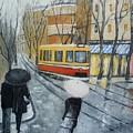 City In Rain by Maria Karalyos