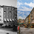 City - New York Ny - Fraunce's Tavern 1890 - Side By Side by Mike Savad