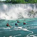 City - Niagara Ny - Flying Over The Niagara by Mike Savad