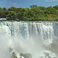 City - Niagara Ny - The American Falls At Niagara by Mike Savad