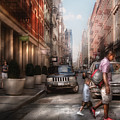 City - Ny - Walking Down Mercer Street by Mike Savad