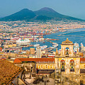 City Of Naples With Mt. Vesuvius by JR Photography