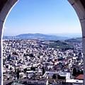 City Of Nazareth From The Saint Gabriel Bell Tower by Thomas R Fletcher