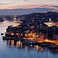 City Of Porto In Portugal At Dusk by Artur Bogacki