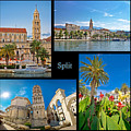 City Of Split Nature And Architecture Collage by Brch Photography
