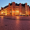 City Of Wroclaw Old Town Market Square At Night by Artur Bogacki