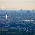 City Of Zagreb Panoramic Aerial View by Brch Photography