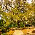 City Park New Orleans - Paint by Steve Harrington