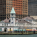 City Pier A And Pier A Harbor House In New York City by David Oppenheimer