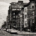 City Streets In Grunge by Cathy Anderson