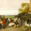 City Travellers Being Offered Fruit by Alexandrovich