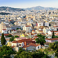 City View Of Old Buildings In Athens, Greece by Otto