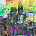 Cityscape Art City Optimist by Mary Clanahan