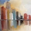 Cityscape At Sunrise by Eduardo Tavares