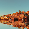 Cityscape For The Beautiful Nubian City Aswan In Egypt At The Golden Hour Of The Sunset Time. by Mohamed Kazzaz