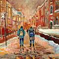 Cityscape In Winter by Carole Spandau
