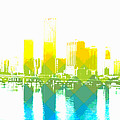 Cityscape Miami by Mary Clanahan