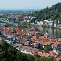 Cityscape  Of Heidelberg In Germany by Michalakis Ppalis